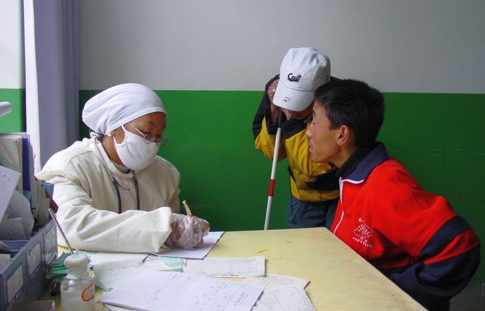 SARS checkup in Lhasa, Tibet 2003